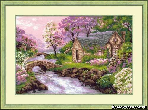 Схема вышивки 2 - Пейзаж дом