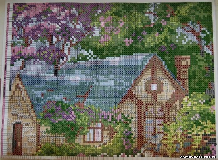Схема вышивки 1 - Весенний сад