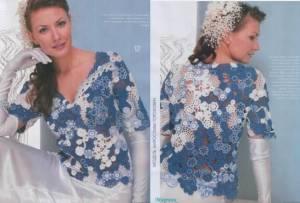 Кружевные блузы крючком 2 Схемы